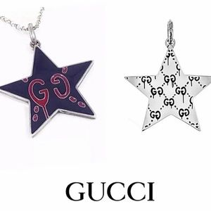 New Gucci Ghost Navy GG Star Charm + Free Chain